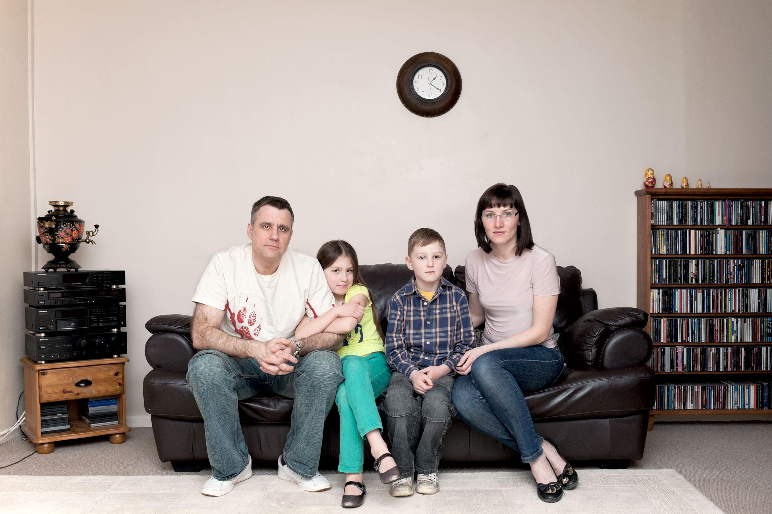 Uliana and Adam with kids