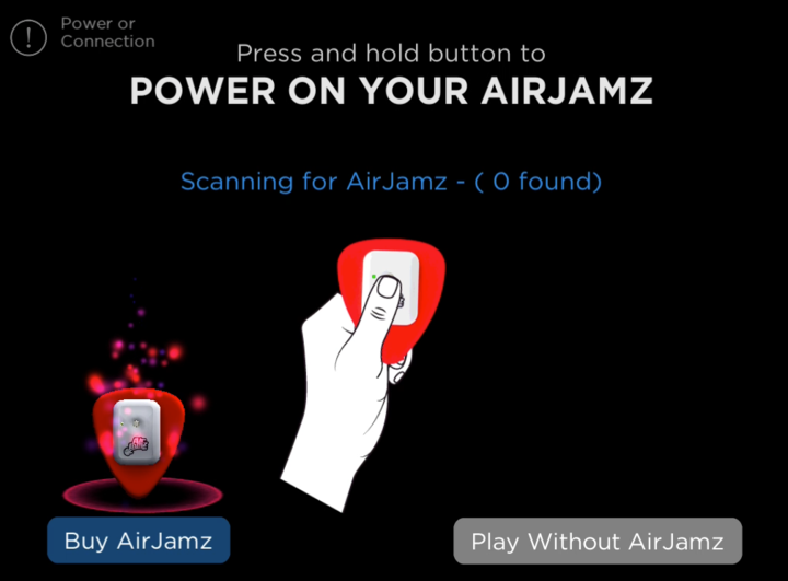 Make sure your device's Bluetooth is turned on, and open the app. Your AirJamz should automatically connect!