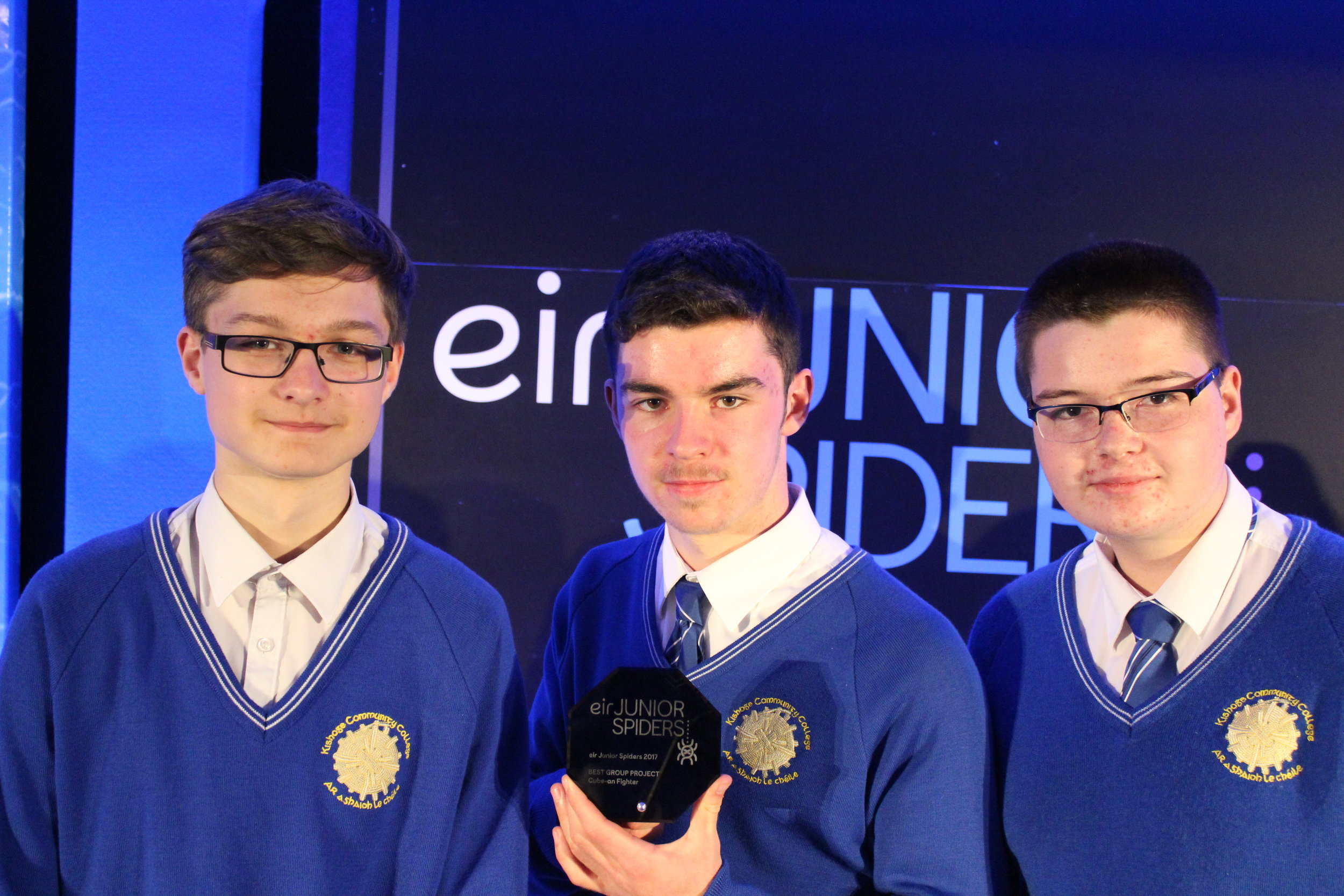 Kishoge students win best group project in Ireland at eir spiders awards