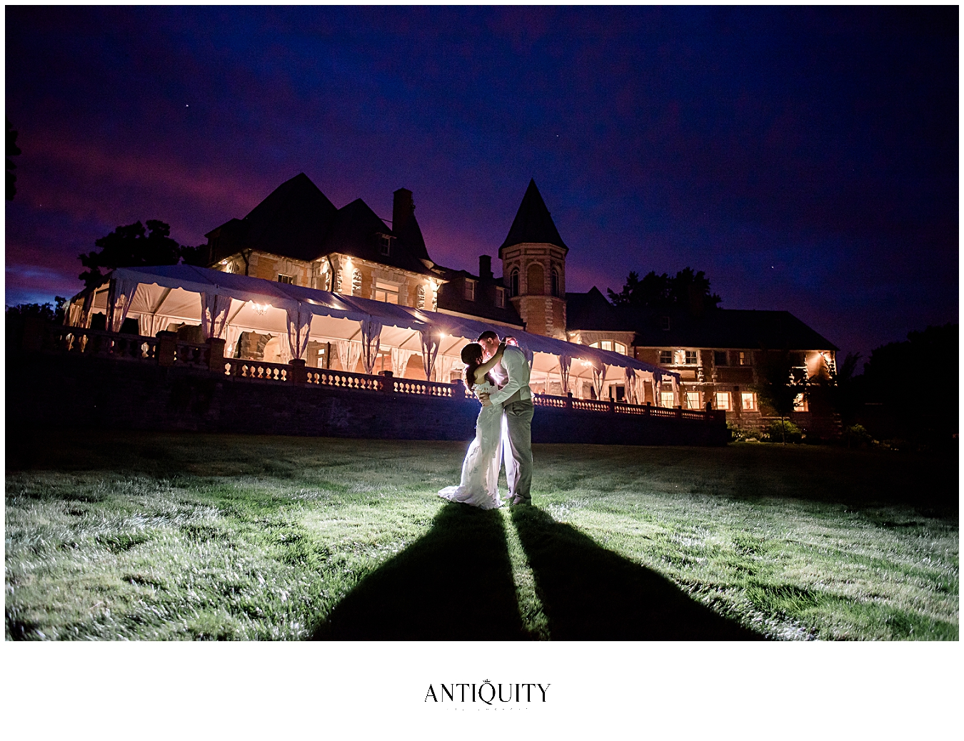 gorgeous couple at cairnwood estate during sunset