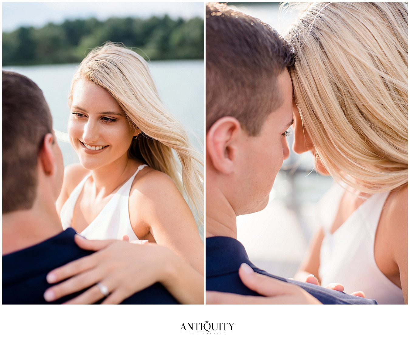couple at montour preserve during their engagement session by williamsport wedding photographer