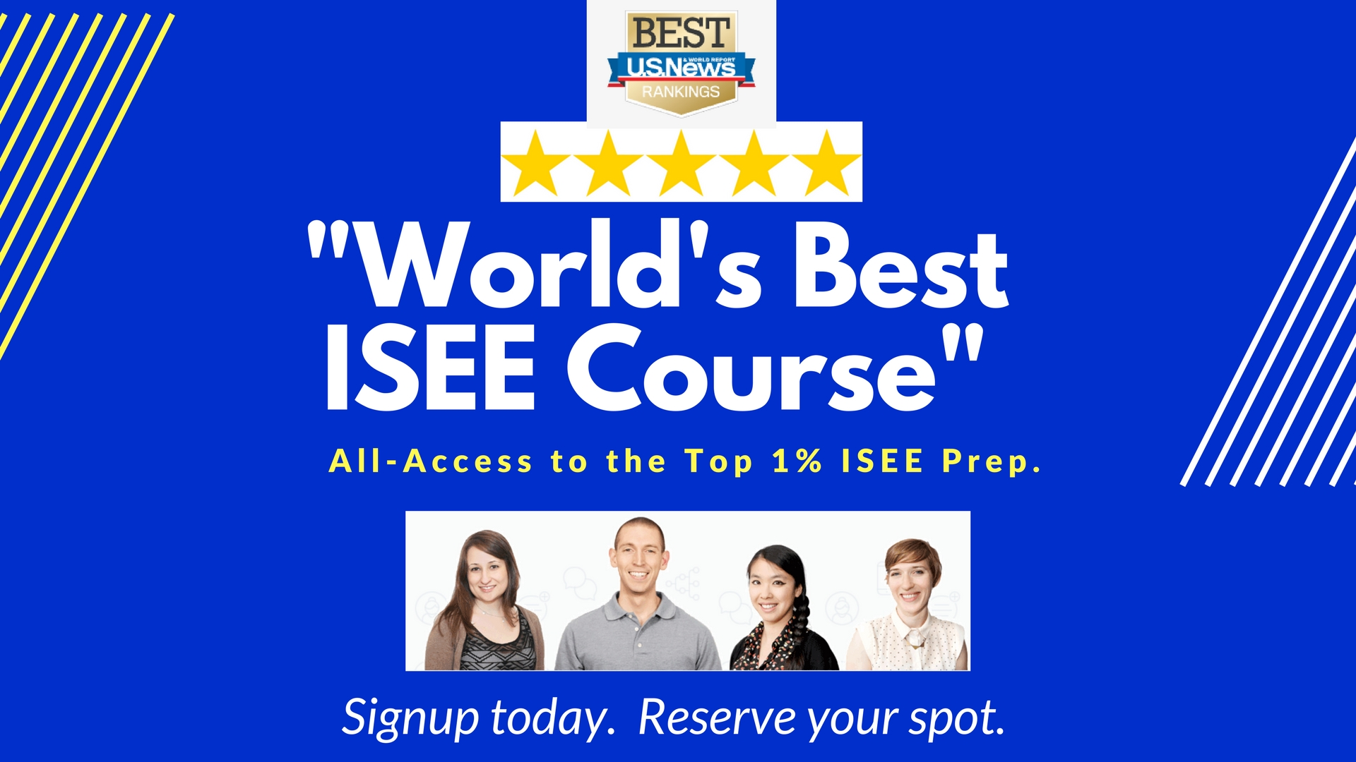 """Best ISEE Prep Course"" Ranked by US News."