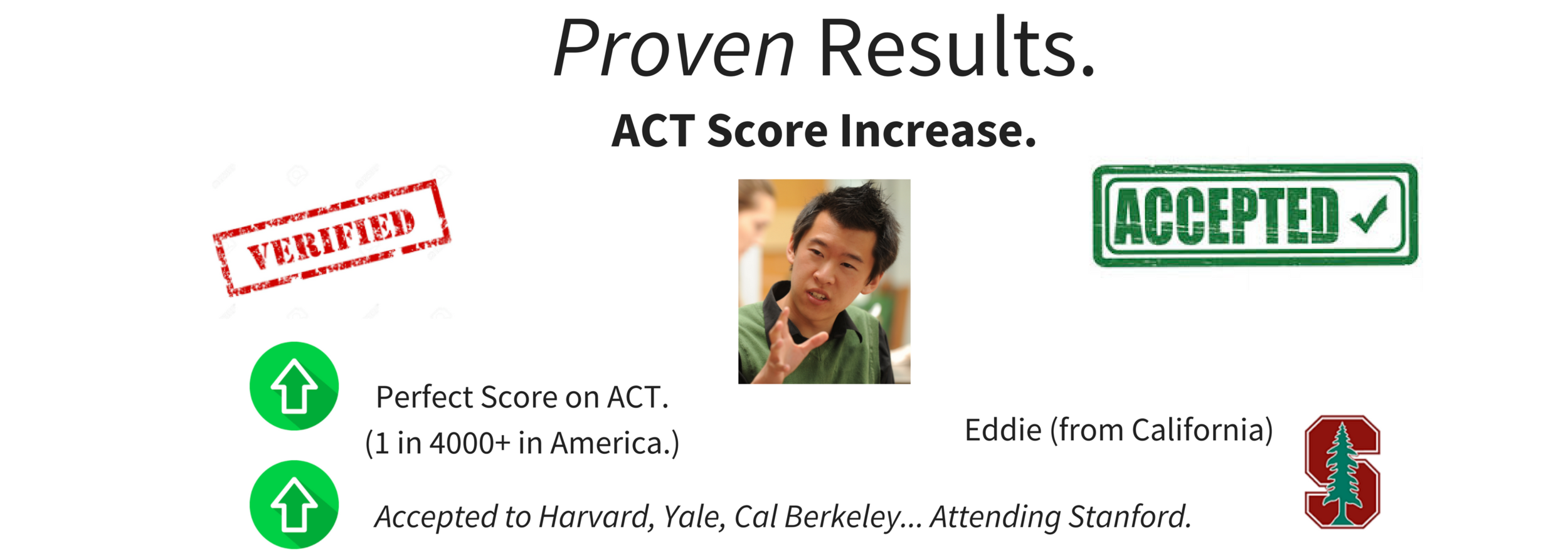 Student received perfect ACT exam score... a 36.