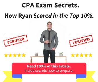 """Best Ranked CPA Exam Prep""  Review. Find out how Ryan scored in the top 10% on his first attempt at the Official Exam..."