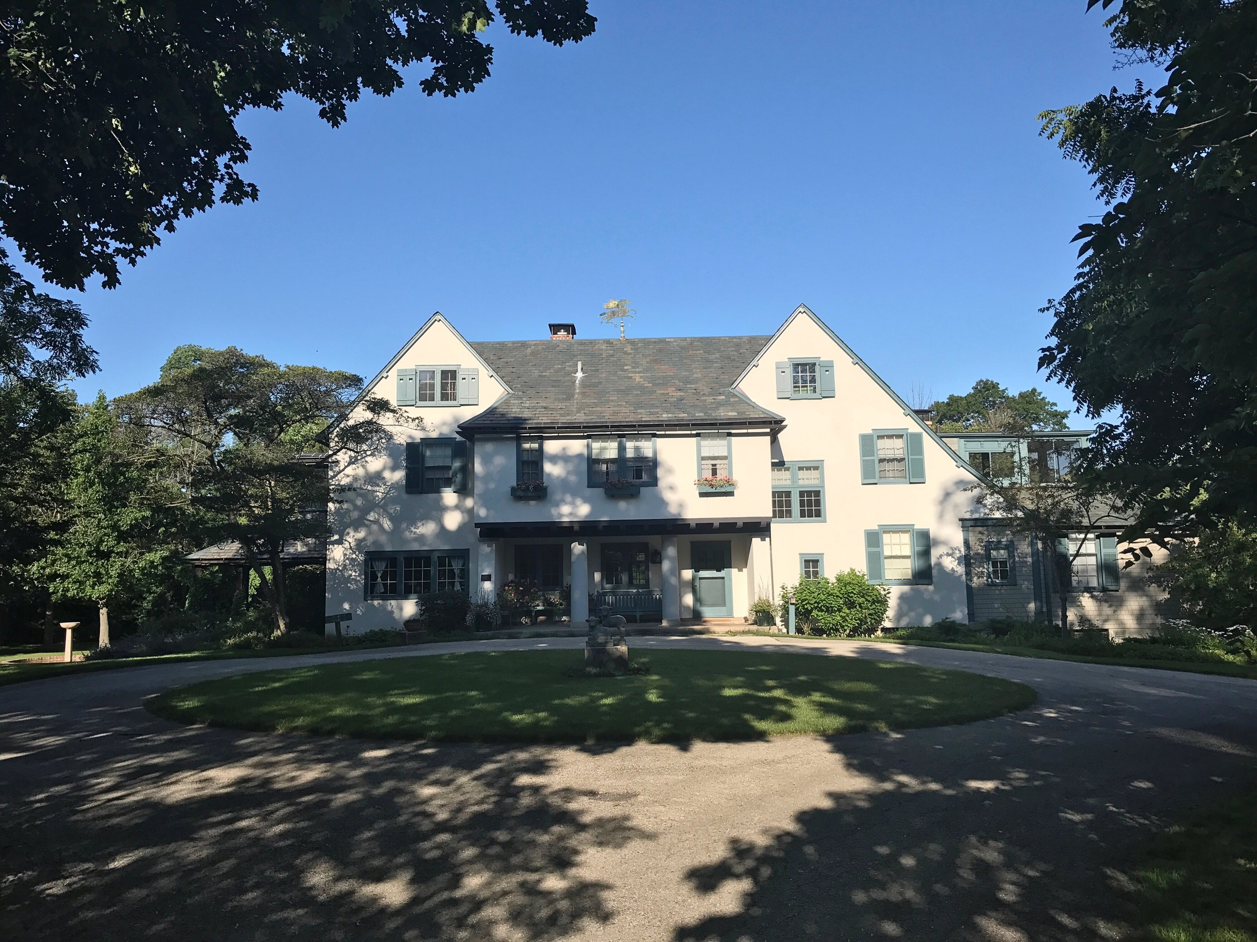 The main house at Ragdale. Originally the summer home of Howard Van Doren Shaw who is considered a leader of the American Arts and Crafts Movement.