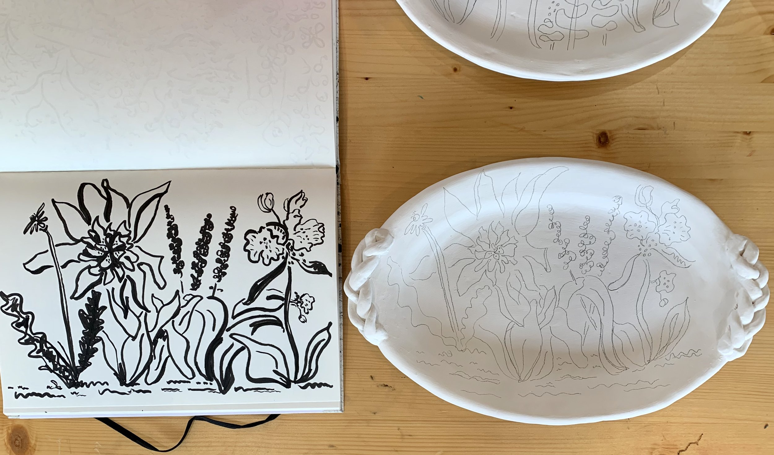 kate lewis art.braided platters in the works.jpg