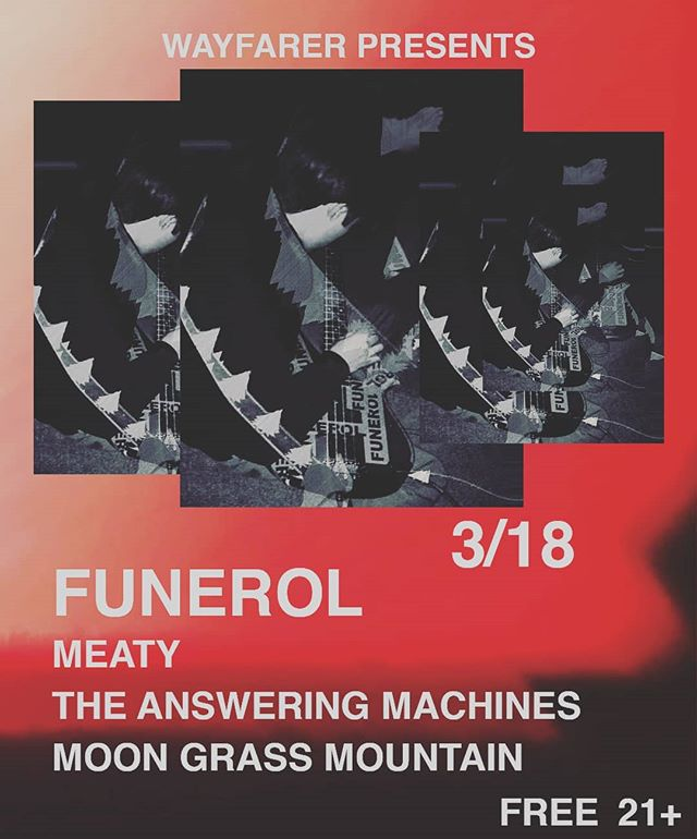 TOMORROW NIGHT 8PM @__funerol__ @indiana420bitch @iamnotdamosuzuki FREE 21+ @wayfarercm !!!