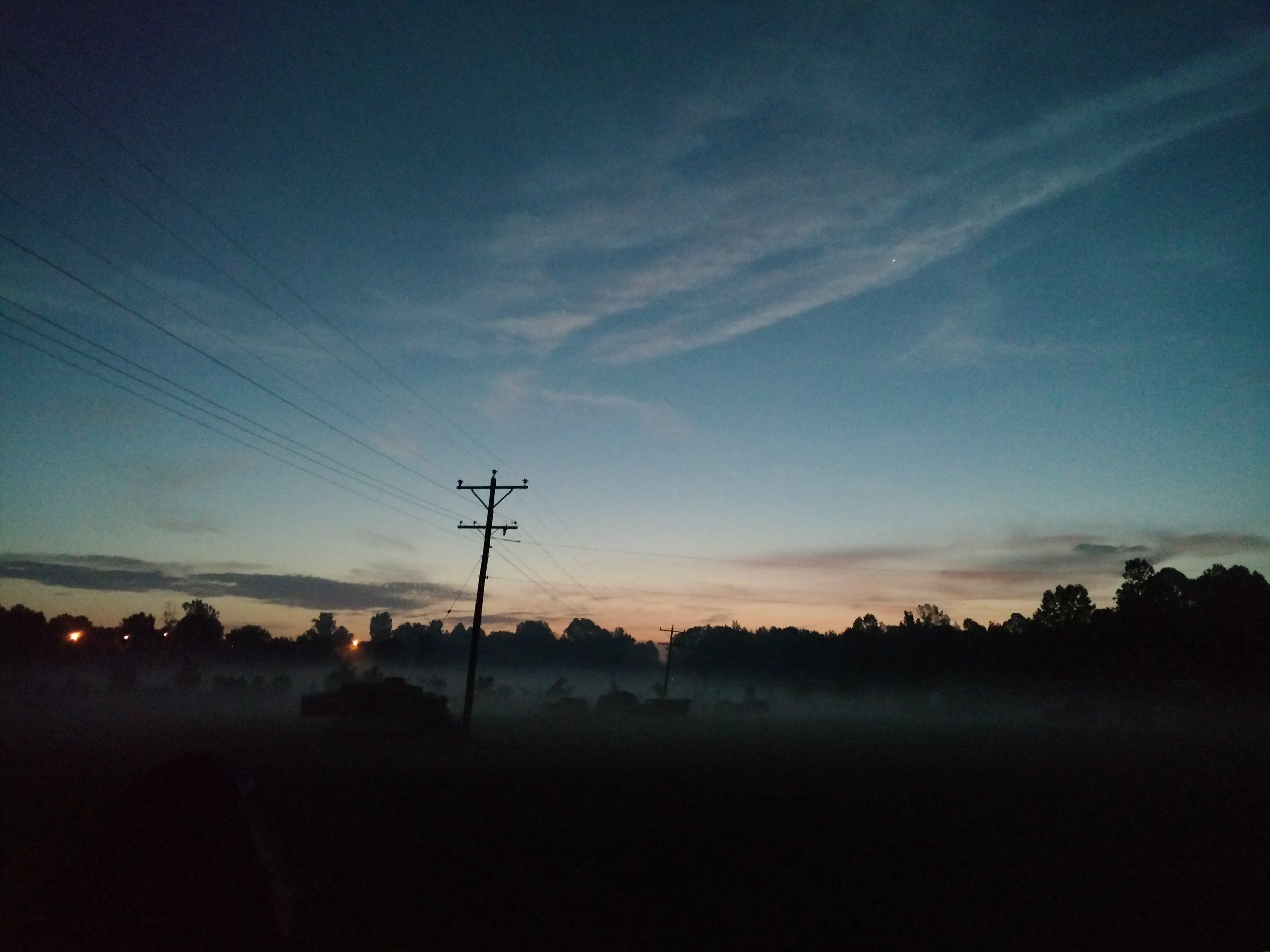 Dawn over Dawson Springs