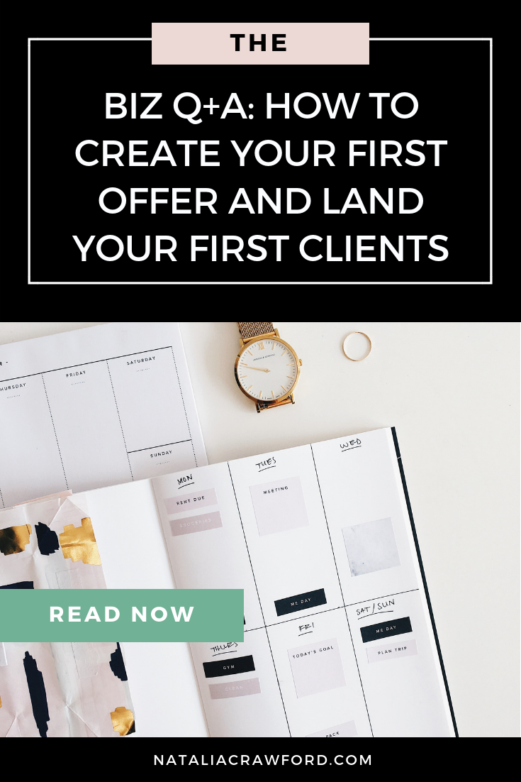How to Create Your First Offer and Land Your First Clients.png