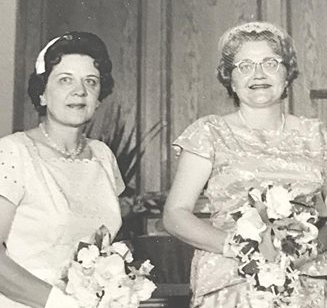 Evelyn & May on May's wedding day