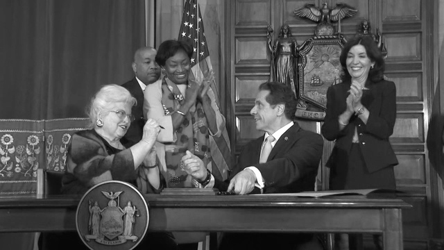 New York Governor Andrew Cuomo signs Reproductive Health Act into law.