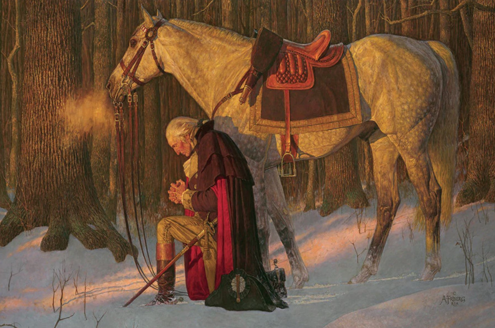 George Washington Prayer at Valley Forge