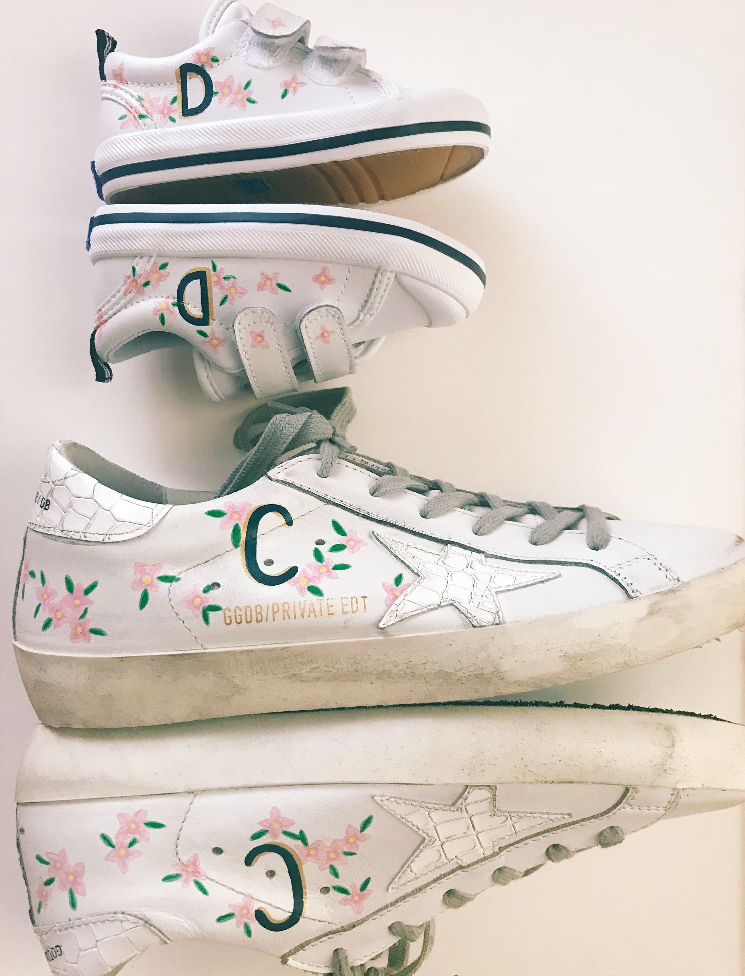 Custom Mother Daughter Sneakers
