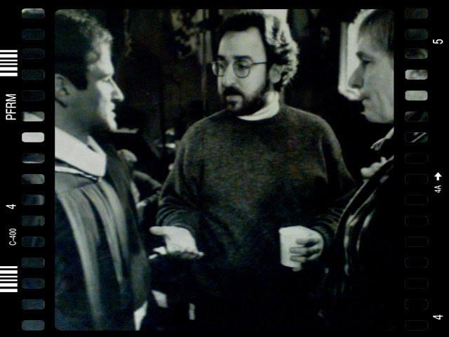 Steven Haft speaks to Robin Williams on  set of  Dead Poets Society