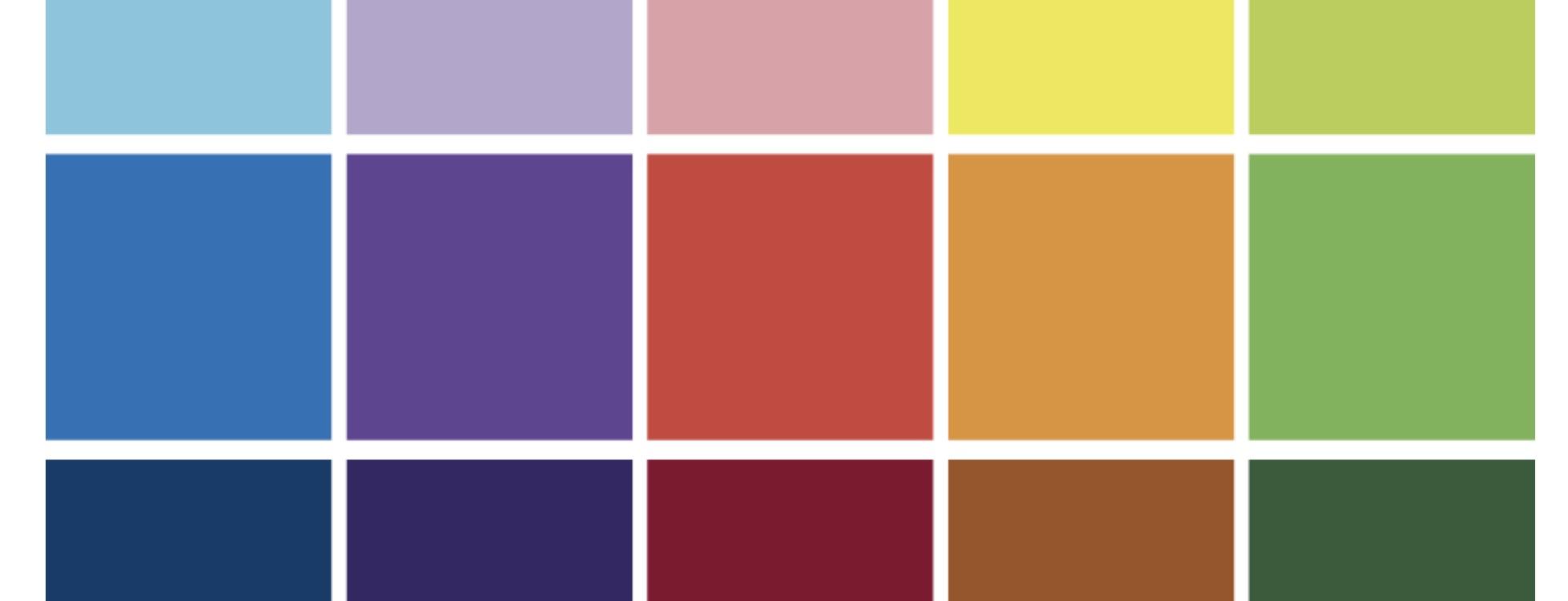 paleta de color guia de marca