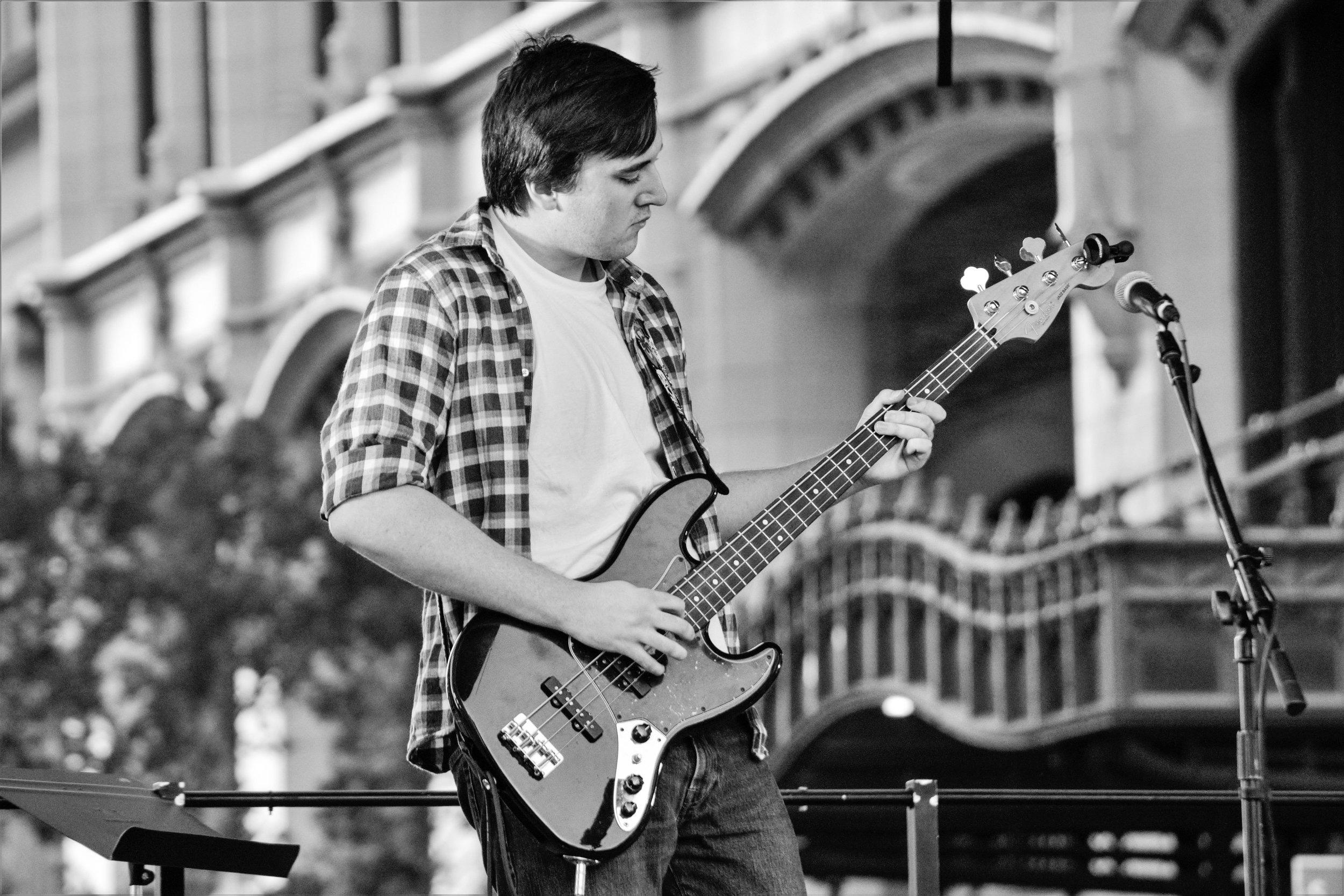 Sam Looking Down at His Bass.jpg