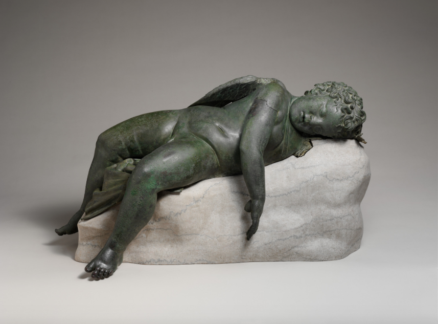 Eros sleeping, Hellenistic period. An excellent example of completely releasing one's weight.