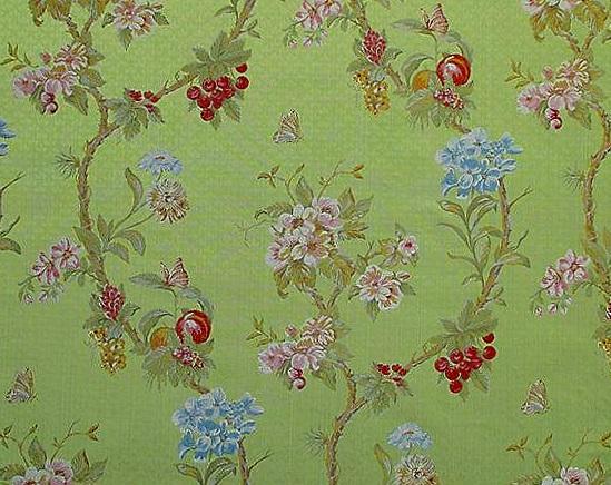 Lampas Silk - Scalamandre Colony Fabric 2017- Ninfa/Verde