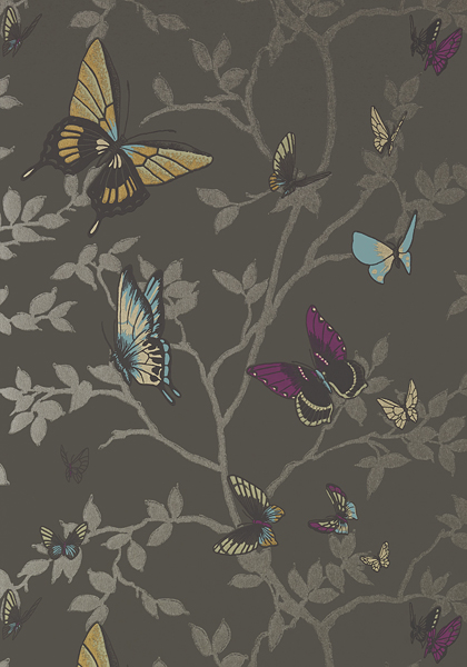 Butterflies Anna French - Saraphina Wallpaper AT6026