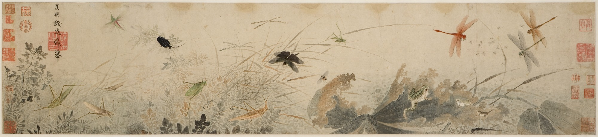"""Insects in Asian Art """"Early Autumn"""" attributed to Qian Xuan, Chinese, 1235-1305 - Detroit Institute of Arts"""