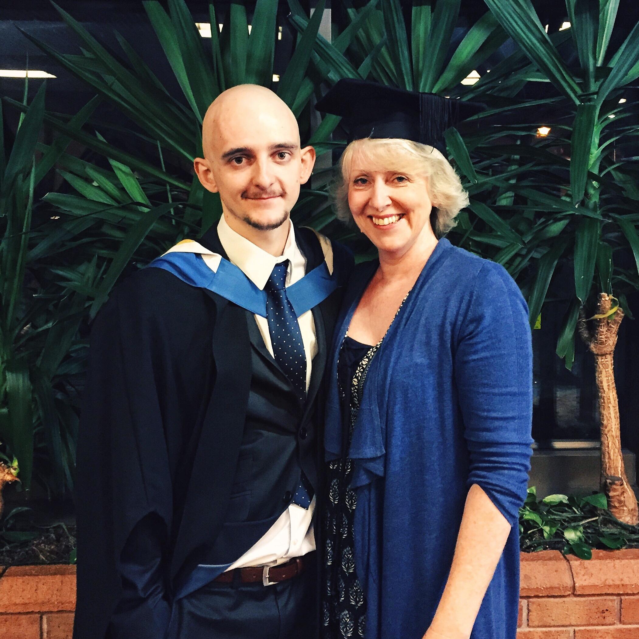 Jordan and Mum - Graduation (Nov 2015)