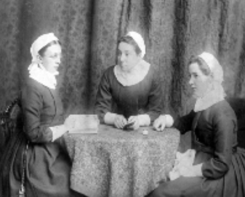 Sisters Esther, Ellen and Christina circa 1889.
