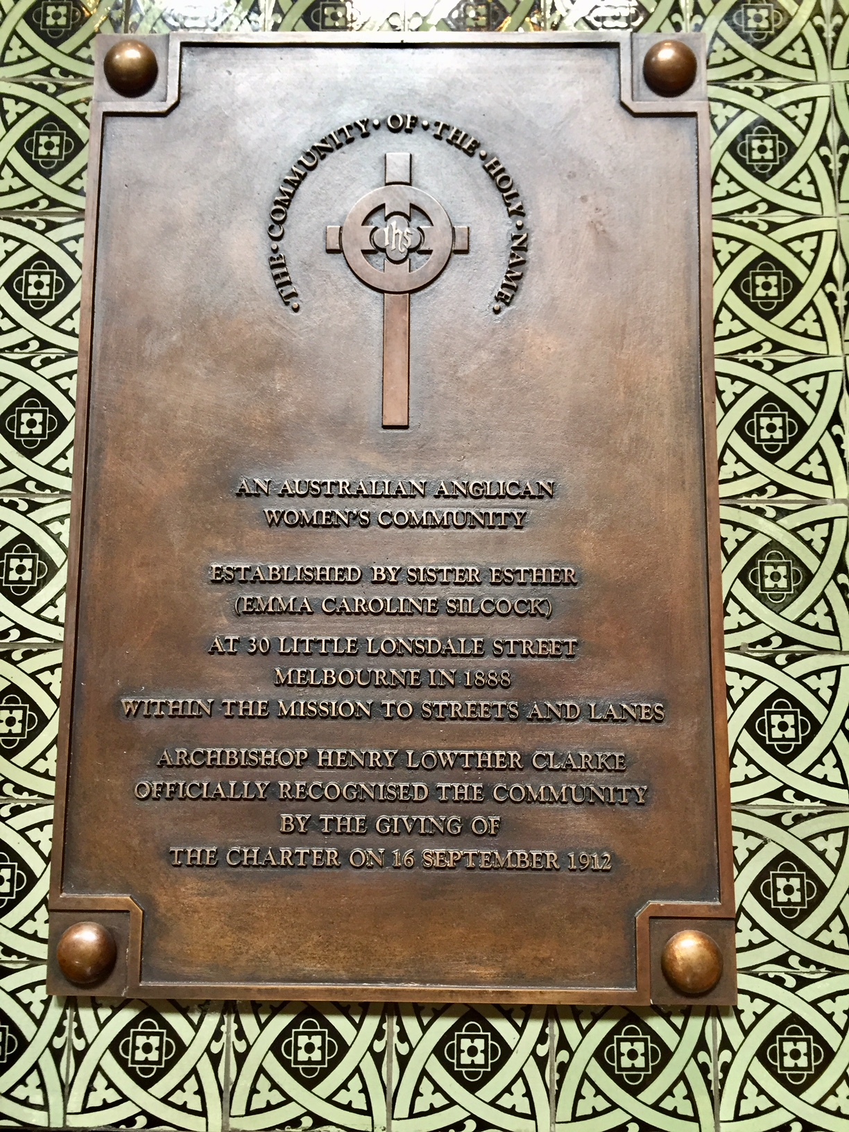 St Paul's Cathedral plaque