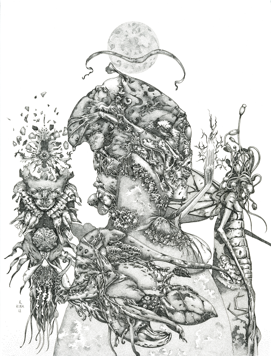 """Out of a Violent Planet   2012, ink on paper, 12"""" x 9"""""""