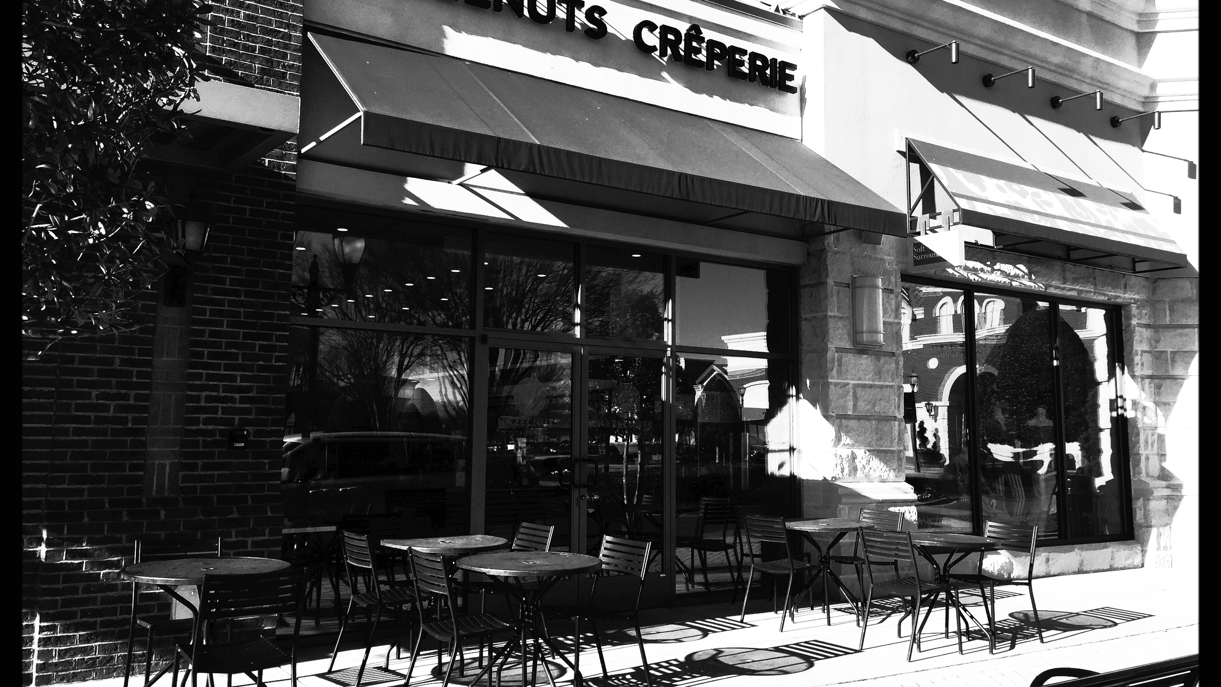 Come enjoy a delicious crepe on our patio at the Blakeney Shopping Center in South Charlotte.