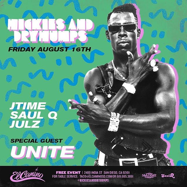 This Friday! We got the one and only @djunite coming through! Early arrival highly suggested! #hickiesanddryhumps . Any birthdays, email Julz@hickiesanddryhumps.com