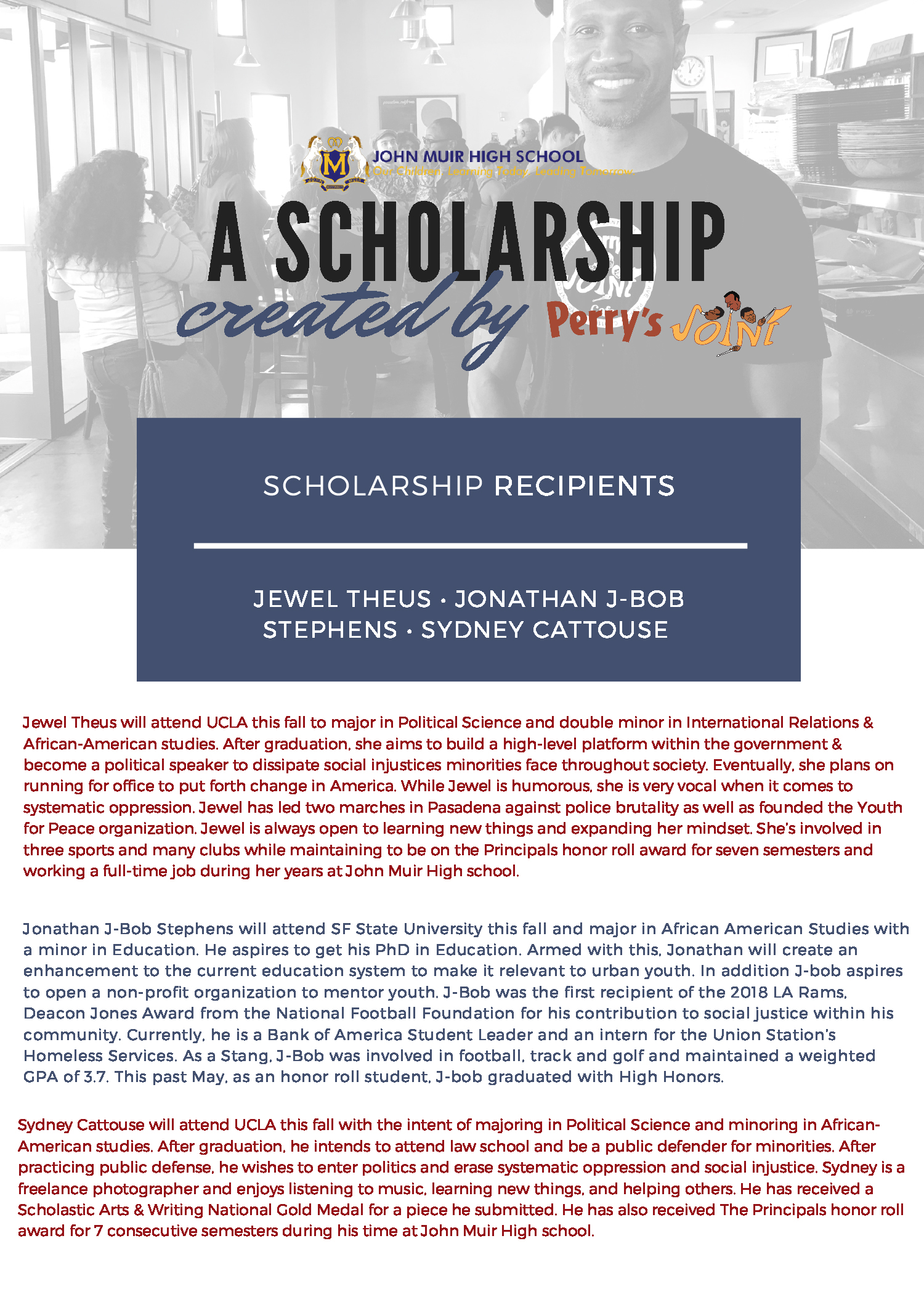 Perry's joint community scholarship