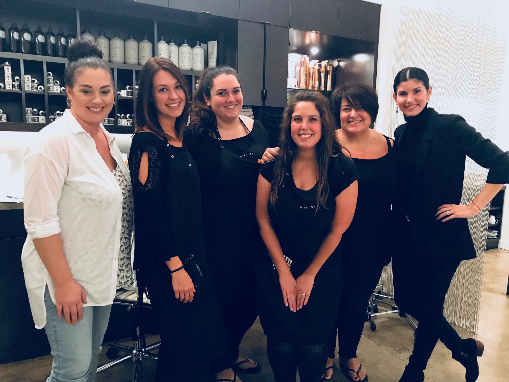 The Team and I at G salon! Such a great Day!