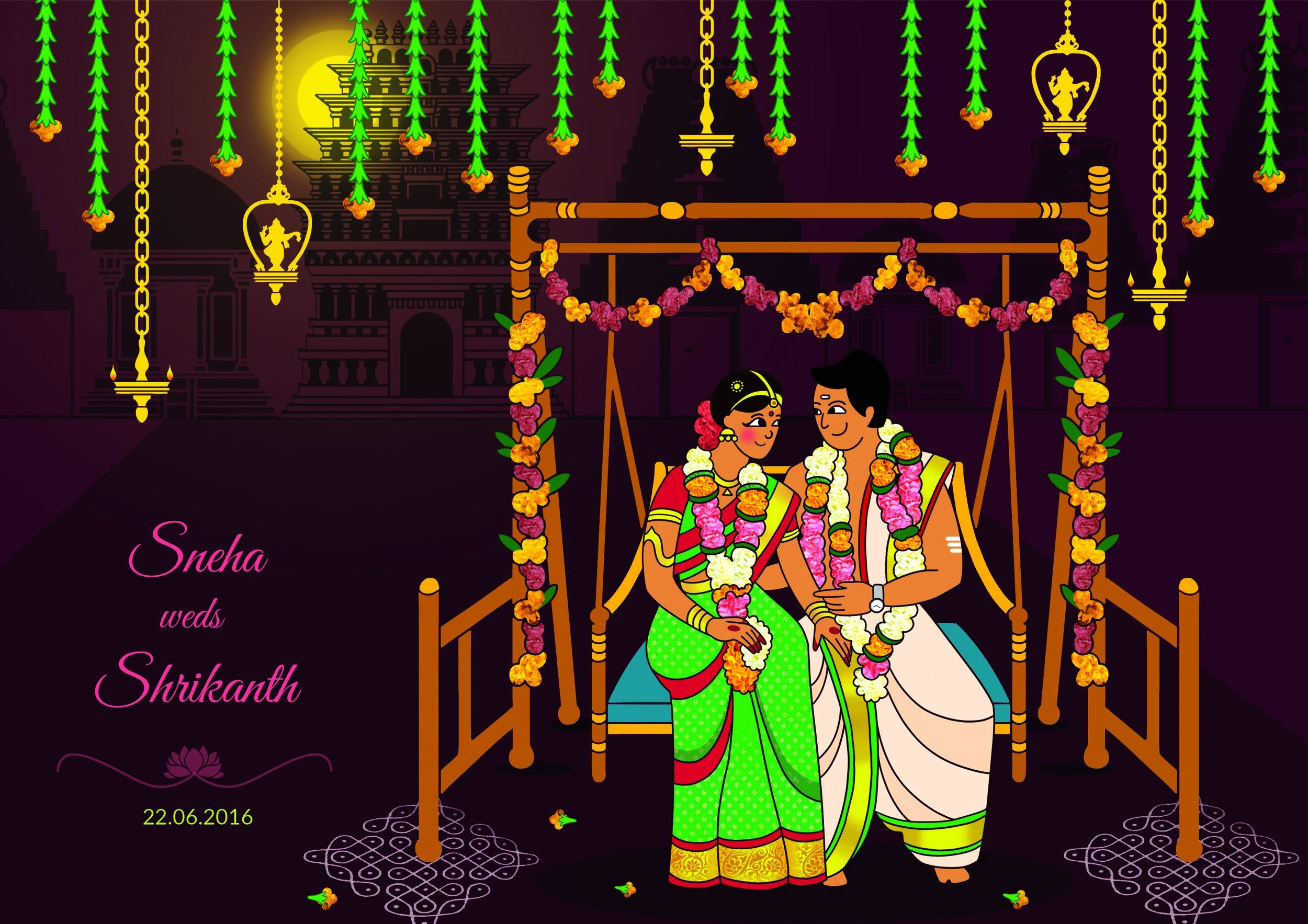 Wedding Invitation Sowmya Iyer