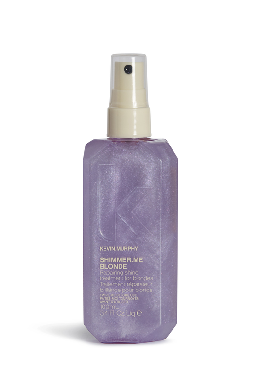 Kevin Murphy Shimmer.Me Blonde - This is a mist that can be used on wet or dry hair. I prefer it on wet hair to help with detangling, add shine, and repair. All of Kevin Murphy's scents are blowing me away currently. They are fresh and not overpowering, or chemical-y. This is a product we carry in my salon or find a salon near you.