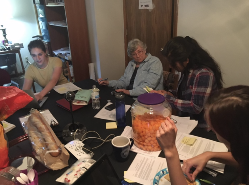 Hardworking Hoosiers enjoying cheese puffs and fighting for Hoosier Healthcare.