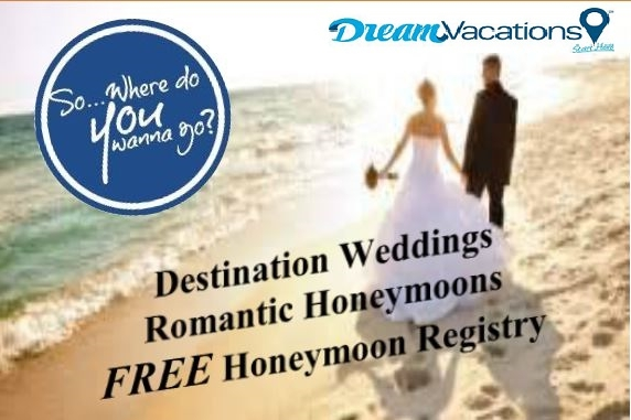Dream Vacations   360-454-0462   EMAIL   Congratulations! You've finally found your perfect match. Now, the search begins to find a destination for your dream wedding or Honeymoon a location that's every bit as special as the love you two share. You're in the right place.