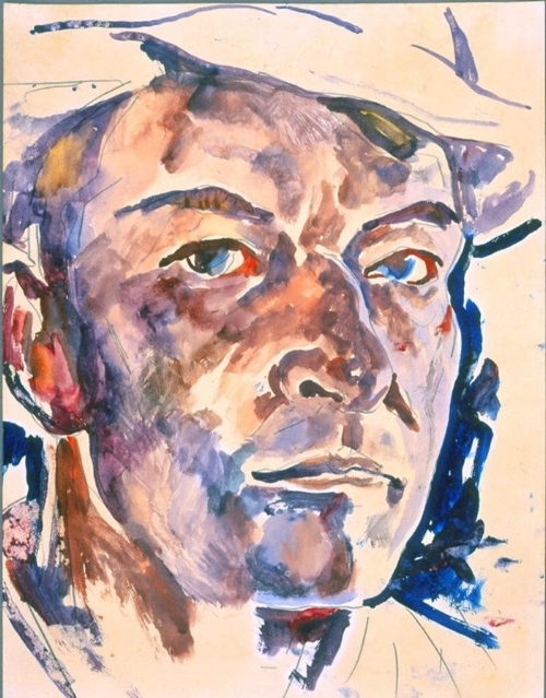 "Walter Anderson ""Self Portrait"" watercolor Walter Anderson Museum of Art"