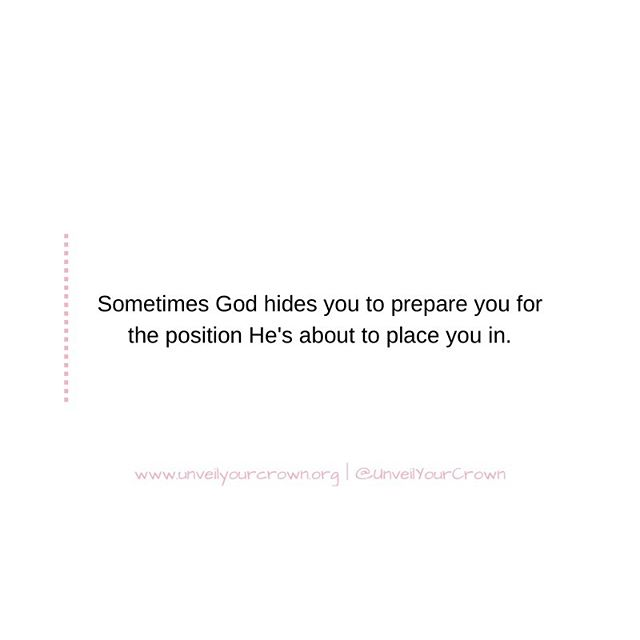 Perhaps you're feeling overlooked, unseen, or maybe even unheard. However, please know that God is still working on your behalf. Hold tight and stay the course. This is preparation for positioning. You've gotta go through the process to get to the PROMISE. — #UnveilYourCrown #UYC #WalkInYourPurpose #Purposeful #PurposeDriven #GodAssignment  #BeTheLight