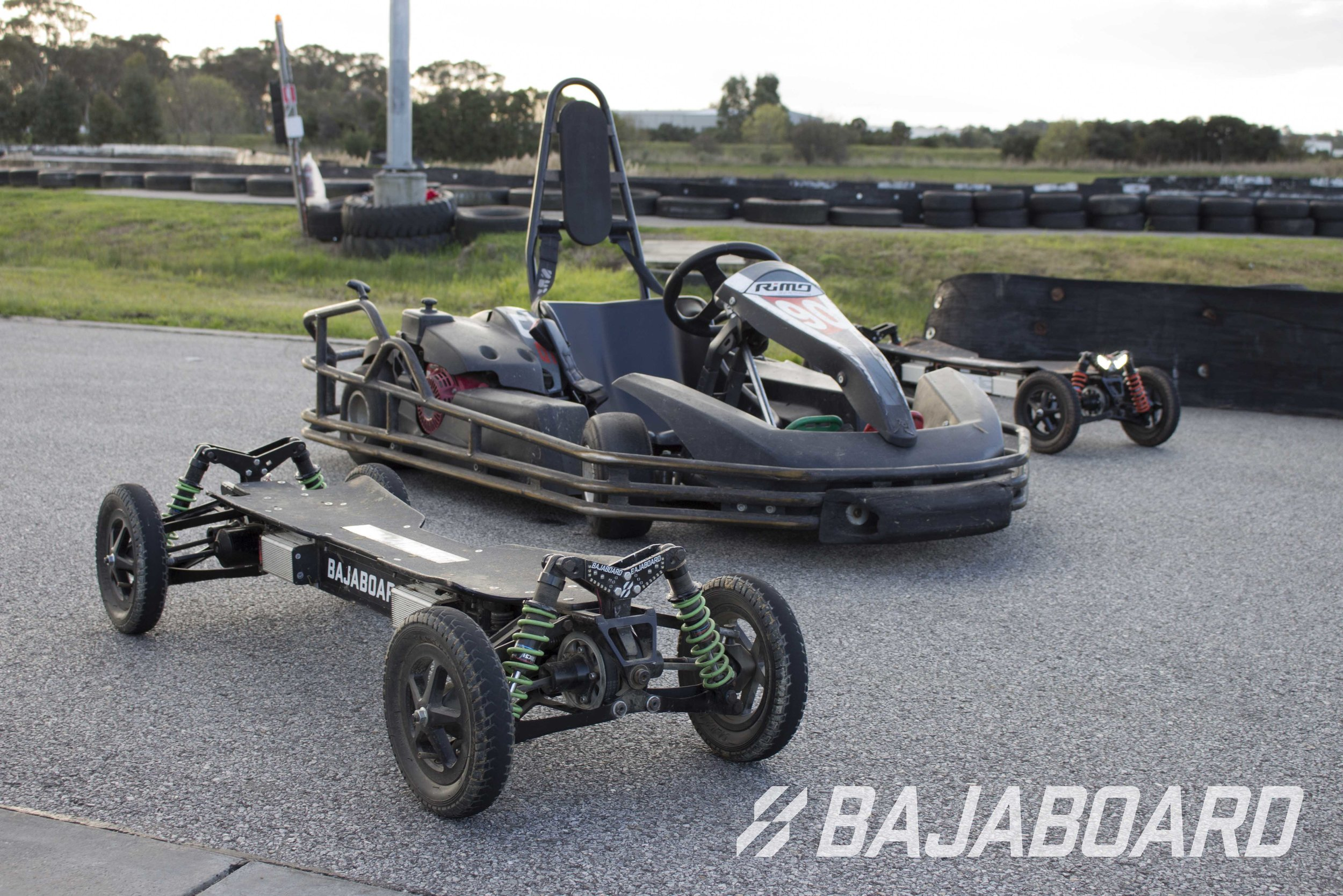 Compare the pair. Electric skateboards and go karts, what would you ride?