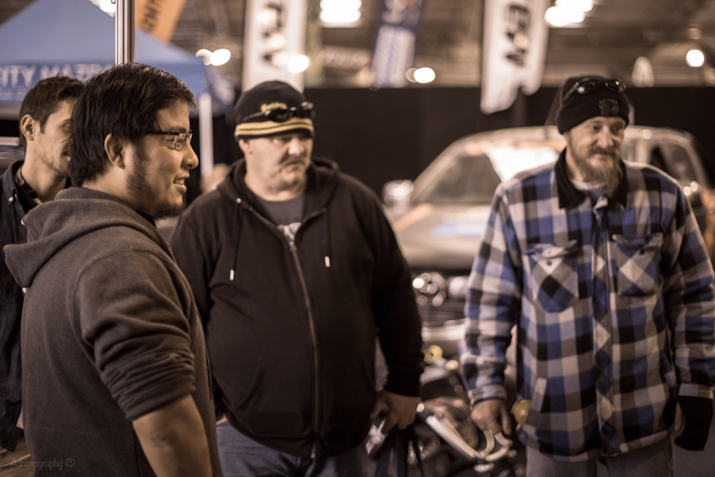 Checking out BajaBoard with George at the 4x4 Show. Photo credit: Adrian Pinto