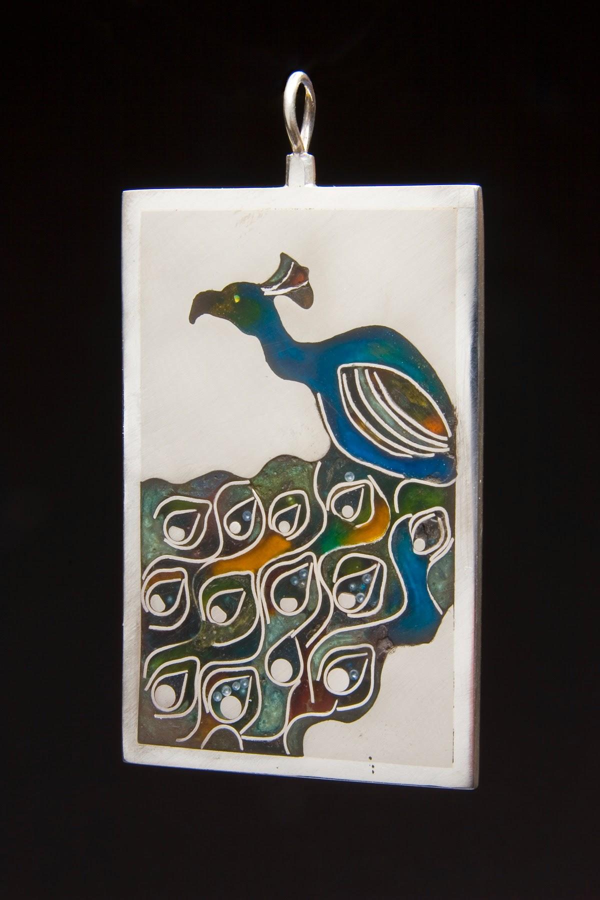 Glorious Peacock Pendant