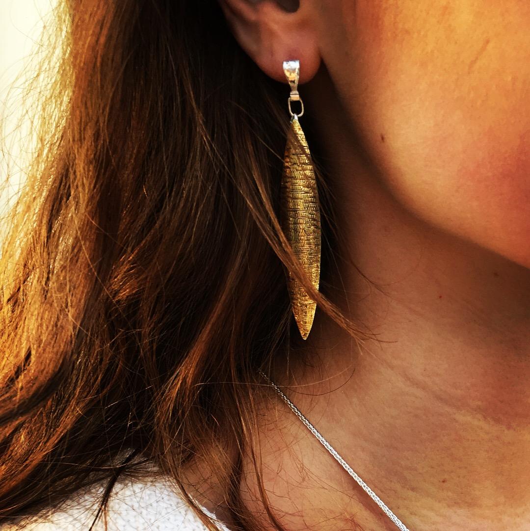 Still Waters Elliptical Earrings