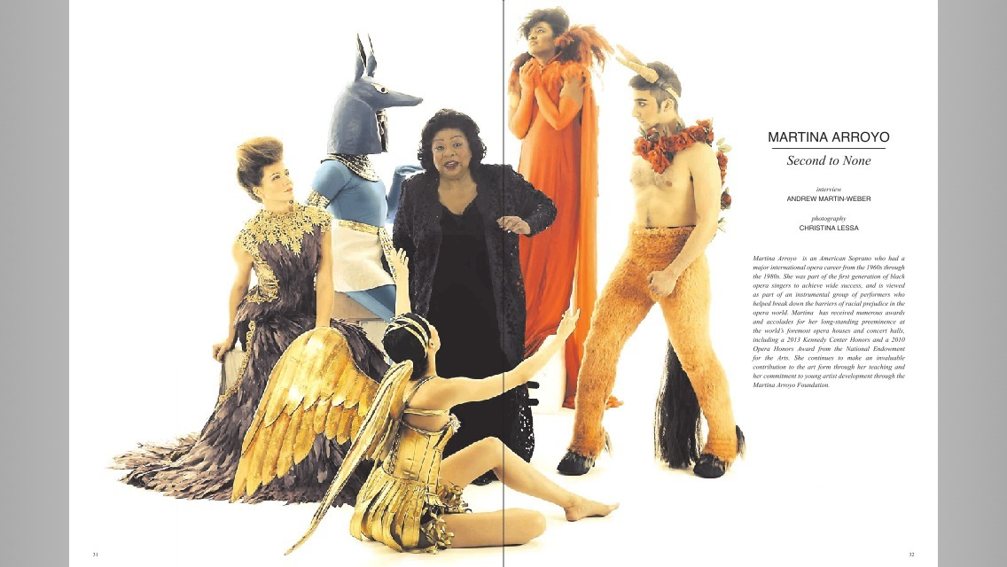 Martina Arroyo feature in FLATT Magazine (Kirsten Scott, left)