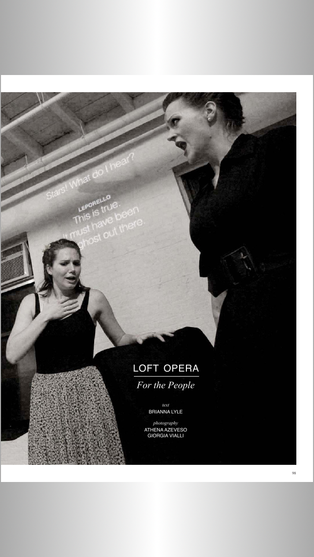 Don Giovanni, Loft Opera 2013 (Featured in FLATT Magazine)