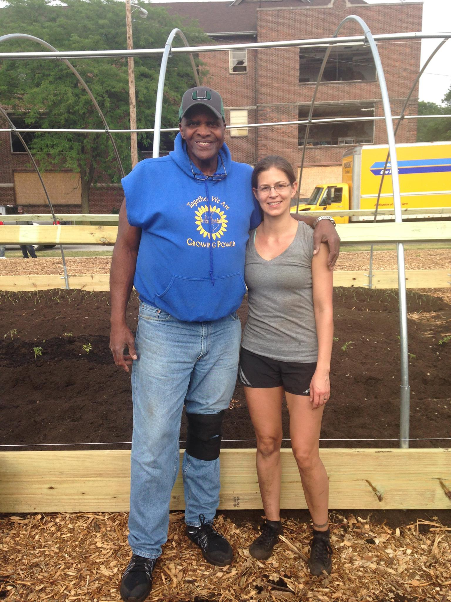 Meeting Will Allen was a highlight for all of the volunteers. He's pictured here with Council Board President Sarah Highlen.