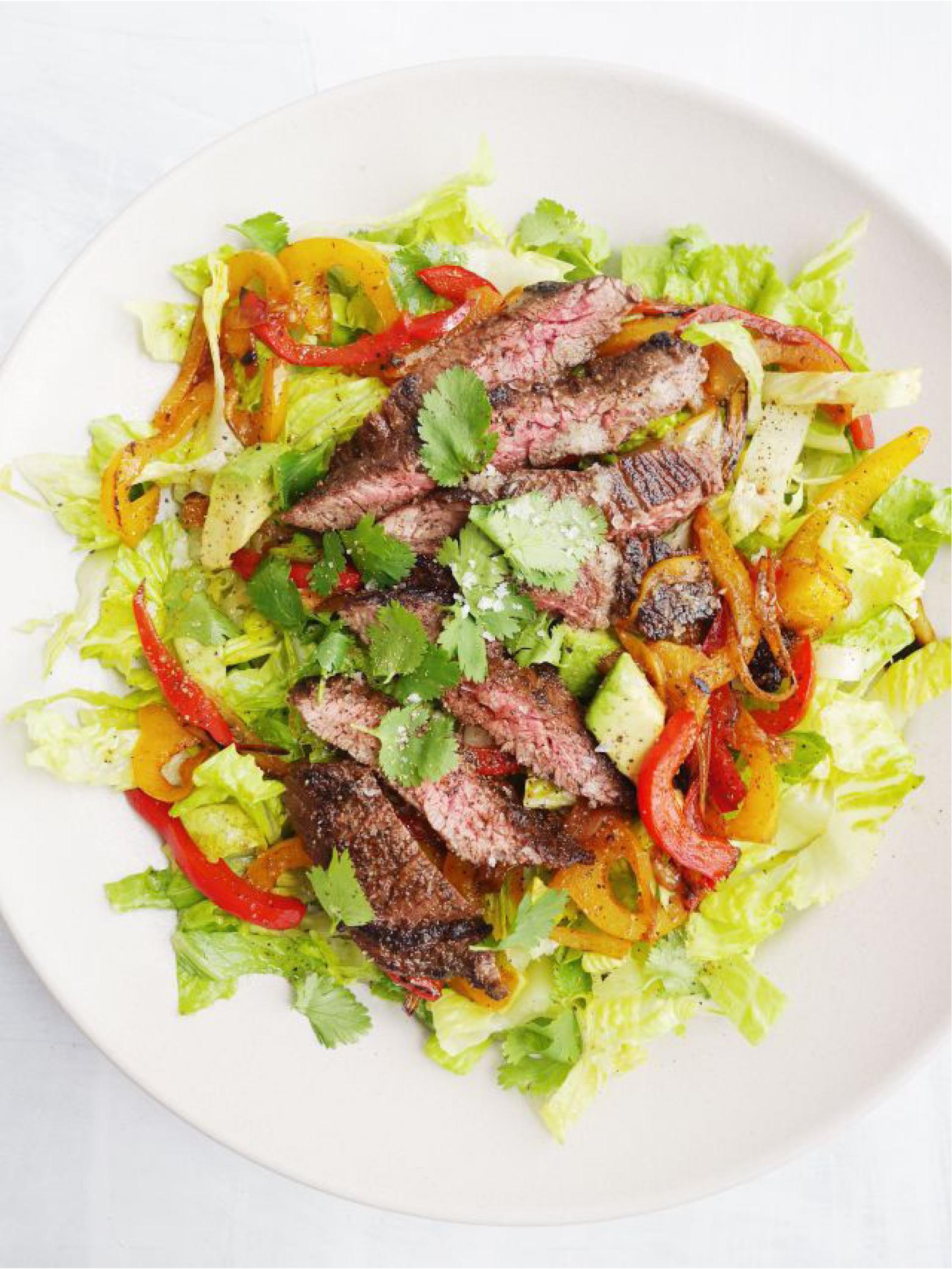 Fajita Steak Salad  Delish
