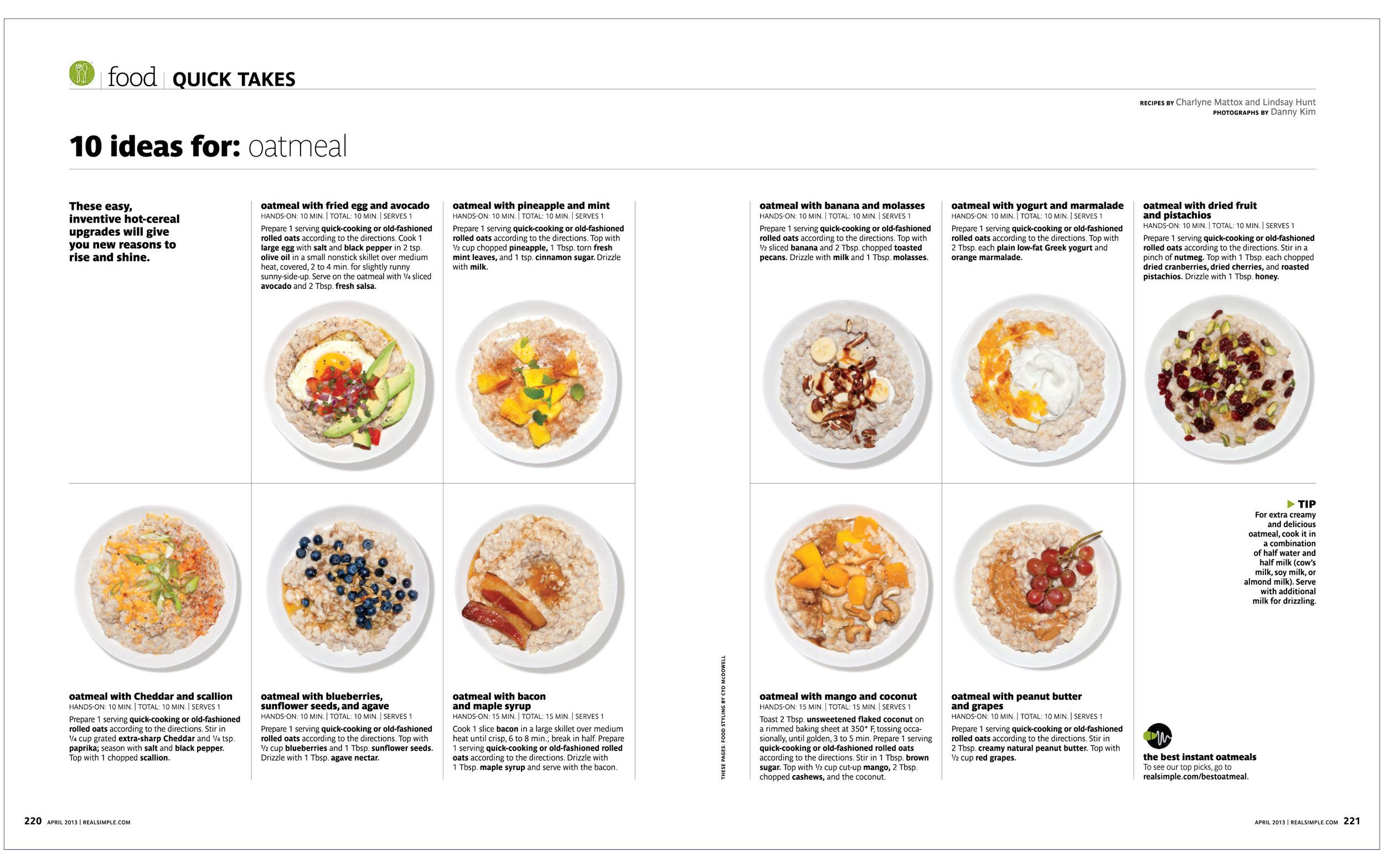 10 ideas for : Oatmeal  Real Simple