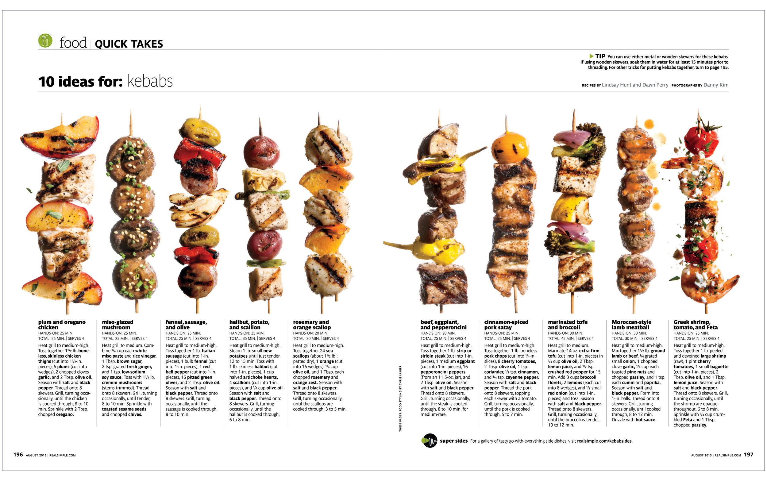 10 Ideas For: Kebabs  Real Simple