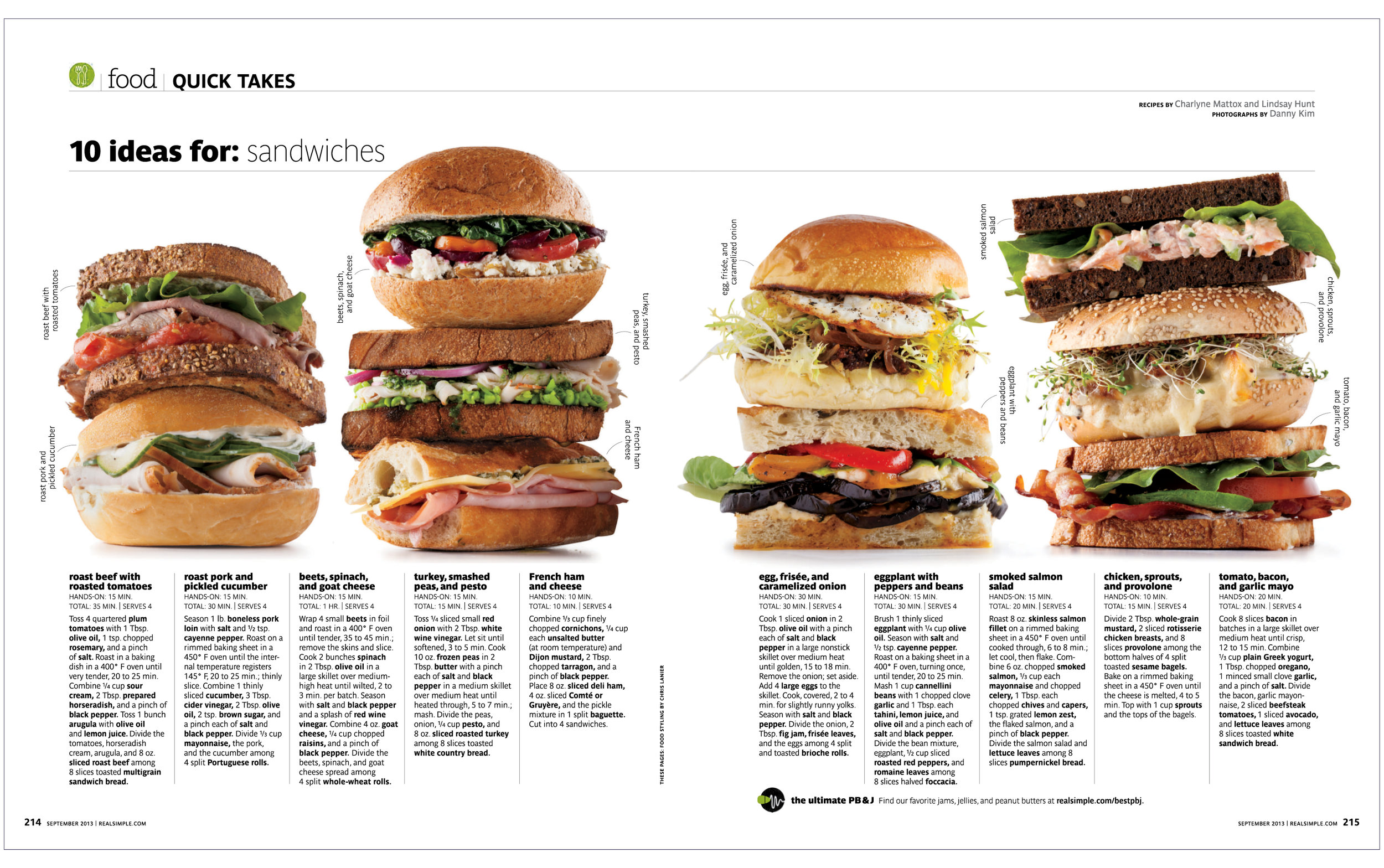 10 Ideas For: Sandwiches  Real Simple