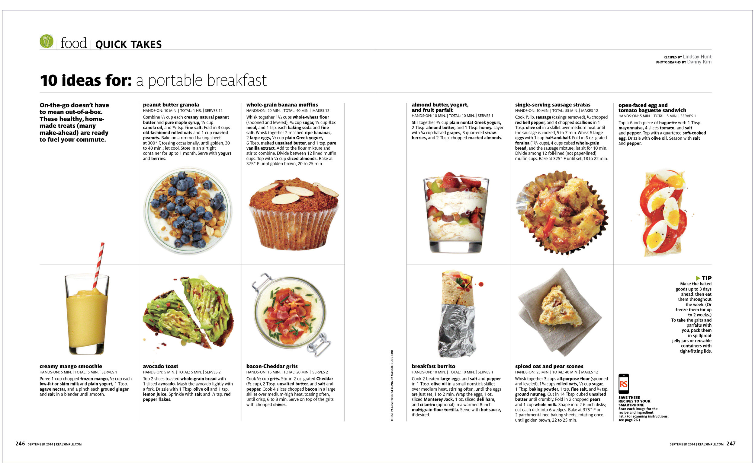 10 Ideas For: A Portable Breakfast  Real Simple